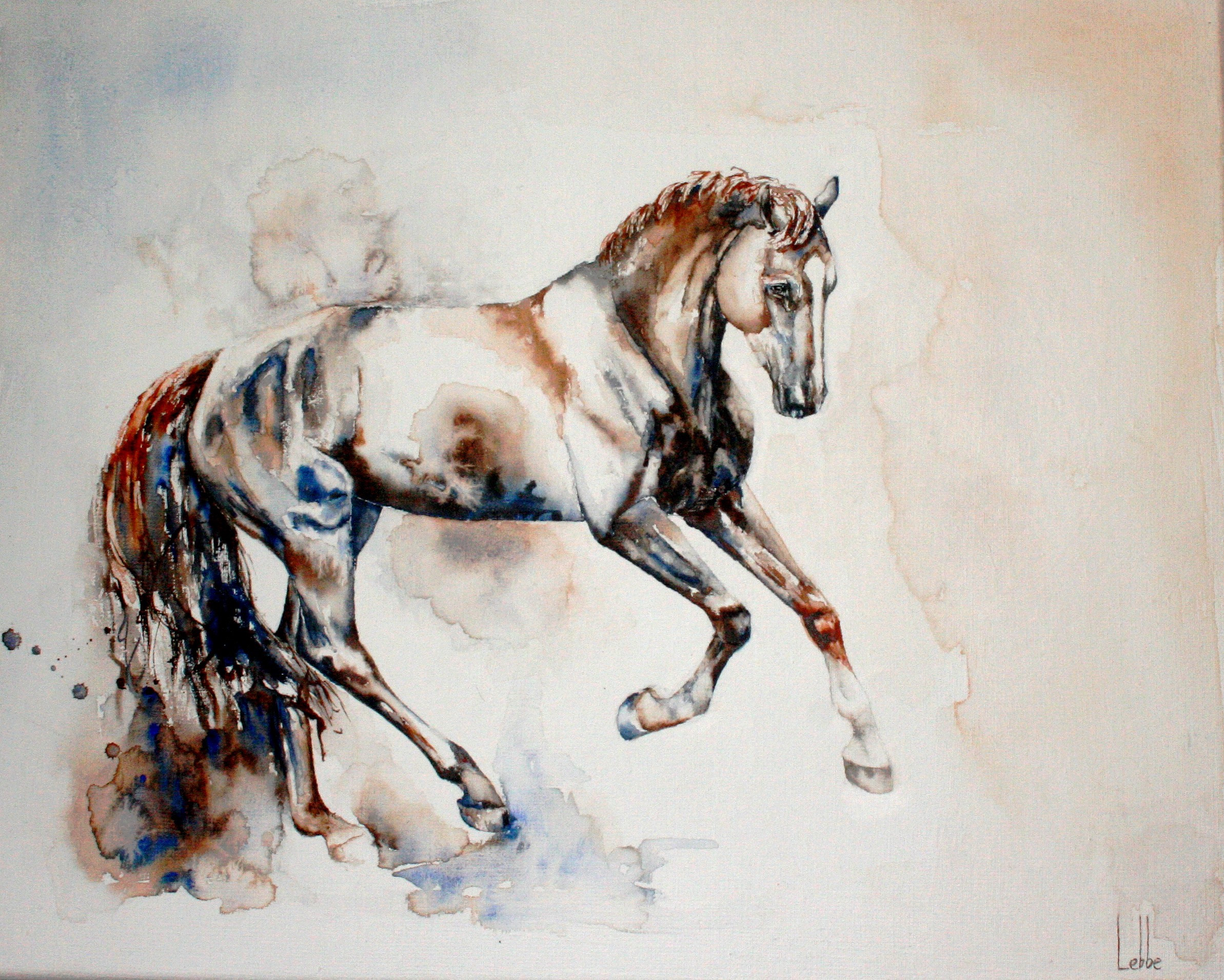 dressage horse painting